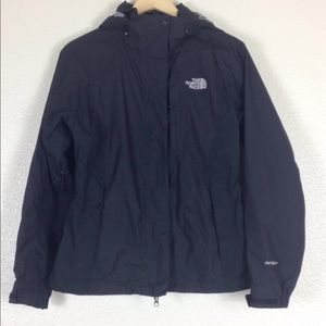 Women north face black windbreaker Jacket size M